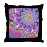 Florality Fractal Throw Pillow