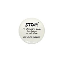 Unique Peanut allergy Mini Button (10 pack)