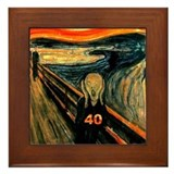 Scream 40th Framed Tile
