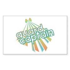 Retro Guard Captain Rectangle Decal