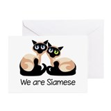We Are Siamese Cats Greeting Cards (Pk of 20)