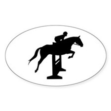 Hunter Jumper Over Fences Oval Decal