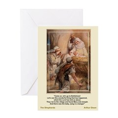 The Shepherds Worship-Dixon-Greeting Card