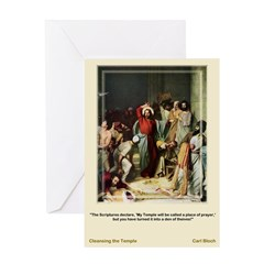 Cleansing the Temple-Bloch-Greeting Card