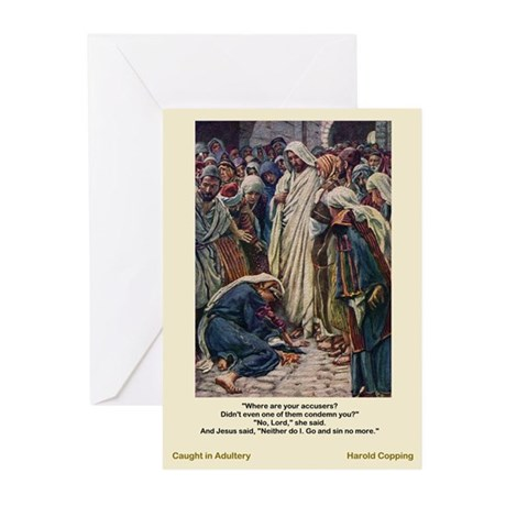 Adultery-Copping-Greeting Cards (Pk of 10)