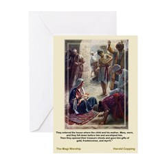 Magi Worship-Copping-Greeting Cards (Pk of 10)