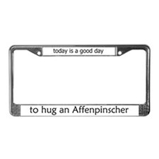 Hug an Affenpinscher License Plate Frame