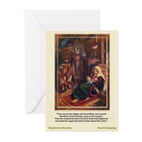 Shepherds Worship-CoppingGreeting Cards (Pk of 10)