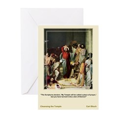 CleansingtheTemple-Bloch-Greeting Cards (Pk of 10)