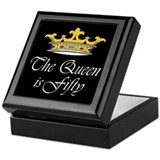 50th birthday gifts woman Keepsake Box