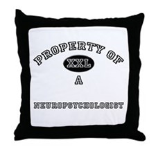 Property of a Neuropsychologist Throw Pillow