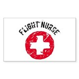 Flight Nurse Rectangle Decal