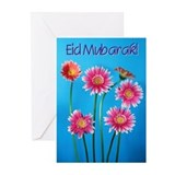 Eid Mubarak Daisies Greeting Cards (Pk of 10)