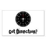 Got Direction? Rectangle Decal