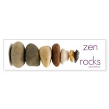 Zen Rocks Bumper Bumper Sticker