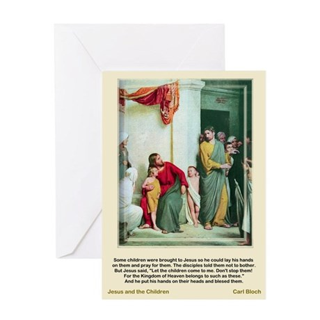 Jesus and the Children-Bloch-Greeting Card
