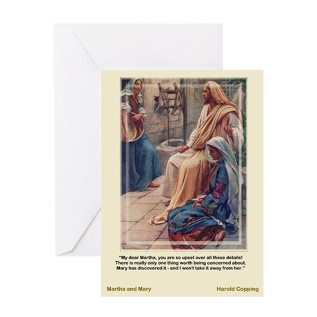 Martha and Mary-Copping-Greeting Card