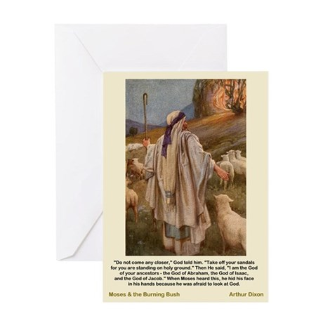 Moses and Burnig Bush-Dixon-Greeting Card