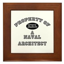 Property of a Naval Architect Framed Tile