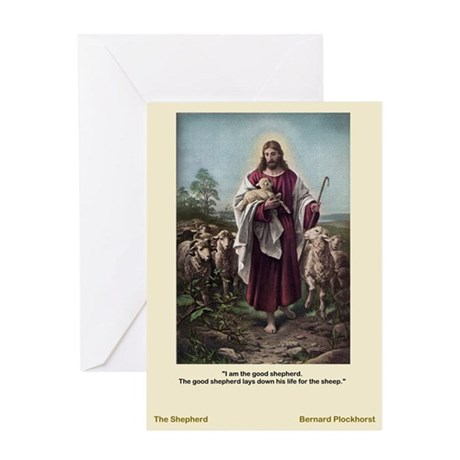 The Good Shepherd-Plockhorst-Greeting Card