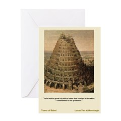 Tower of Babel-Valkenborgh-Greeting Card