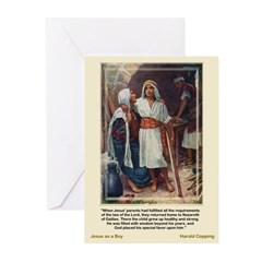 Jesus as a Boy-Copping-Greeting Cards (Pk of 10)