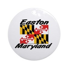 Easton Maryland Ornament (Round)