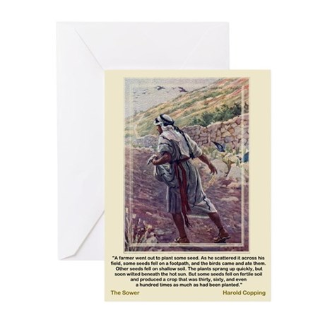 The Sower-Copping-Greeting Cards (Pk of 10)