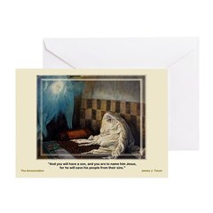 The Annunciation-Tissot-Greeting Card