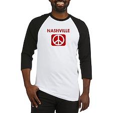 NASHVILLE for peace Baseball Jersey