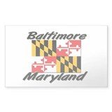 Baltimore Maryland Rectangle Decal