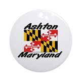 Ashton Maryland Ornament (Round)