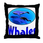 Whales Throw Pillow