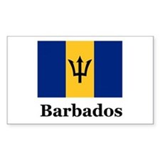 Barbados Rectangle Decal