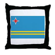 Aruban Flag Throw Pillow