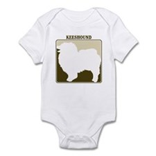 Professional Keeshound Infant Bodysuit
