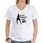 My Chocolate Women's V-Neck T-Shirt