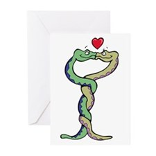 Snakes In Love Greeting Cards (Pk of 10)