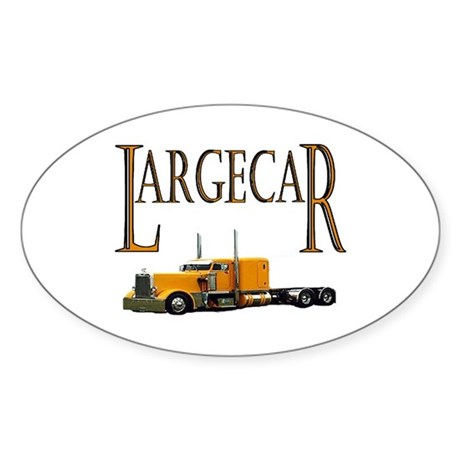 Largecar Oval Sticker