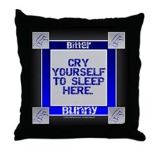 """Cry Yourself to Sleep"" Throw Pillow"