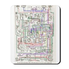 Mousepad - 69 MGB schematic