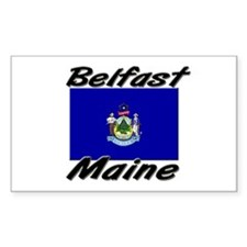 Belfast Maine Rectangle Decal