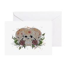Skulls N Roses Greeting Card