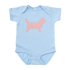 Pink Petit Basset Dog Infant Bodysuit