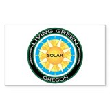 Living Green Oregon Solar Energy Sticker (Rectangu