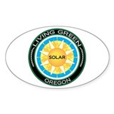 Living Green Oregon Solar Energy Oval Decal