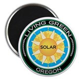 "Living Green Oregon Solar Energy 2.25"" Magnet (10"