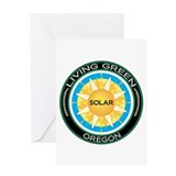 Living Green Oregon Solar Energy Greeting Card