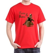 Turn & Burn. Western Cowgirl. T-Shirt