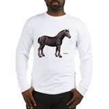 Percheron Horse Long Sleeve T-Shirt